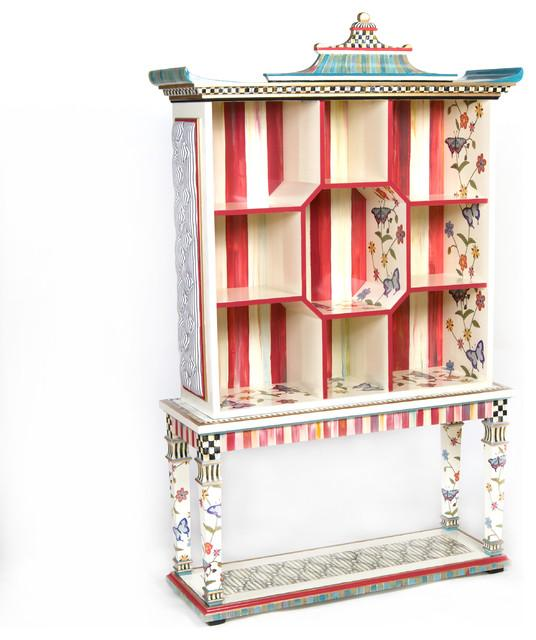 Eclectic Bookshelf Design - Hand-Decorated Mid Century Modern Furniture
