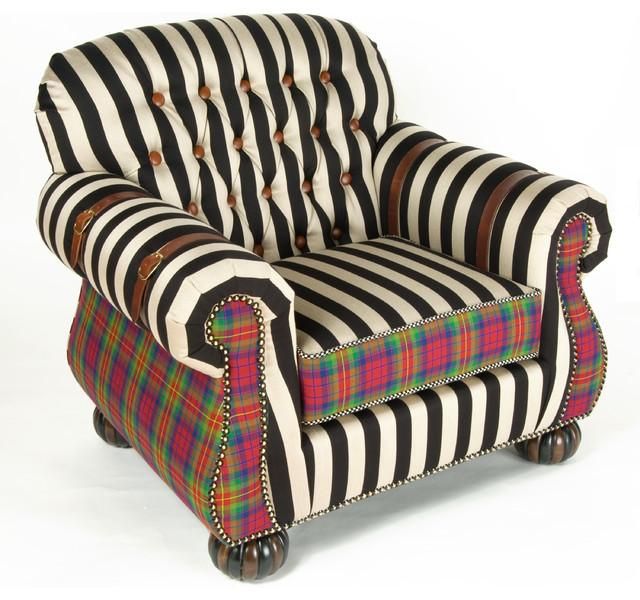 Eclectic Club Chair - Hand-Decorated Mid Century Modern Furniture