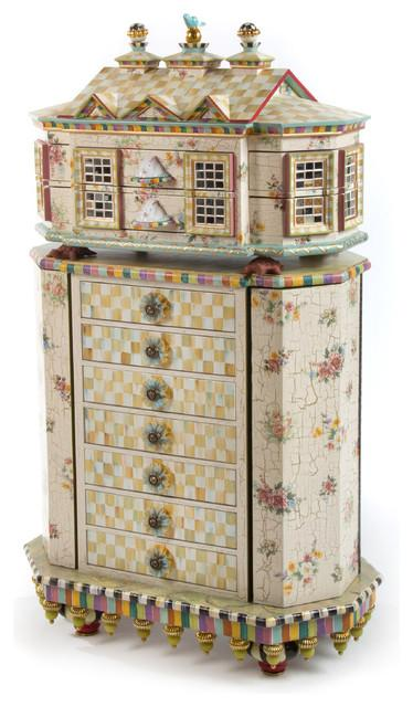 Eclectic Jewelry Box - Hand-Decorated Mid Century Modern Furniture