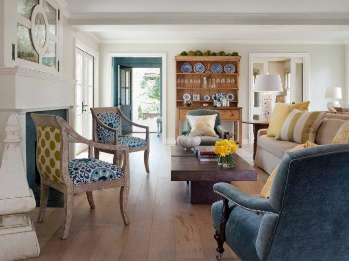 Eclectic Living Room - How a Colorful Chair can Decorate your Living Room