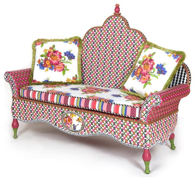 Eclectic Sofa Design - Hand-Decorated Mid Century Modern Furniture