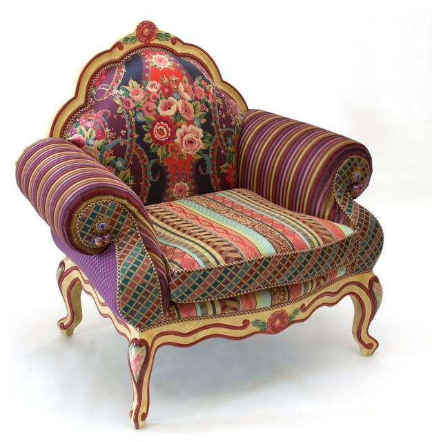 Eclectic Style Armchair Design - Hand-Decorated Mid Century Modern Furniture