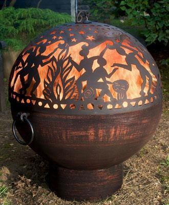 Engraved Wooden Sphere - How to Decorate a Garden without Patio Furniture?