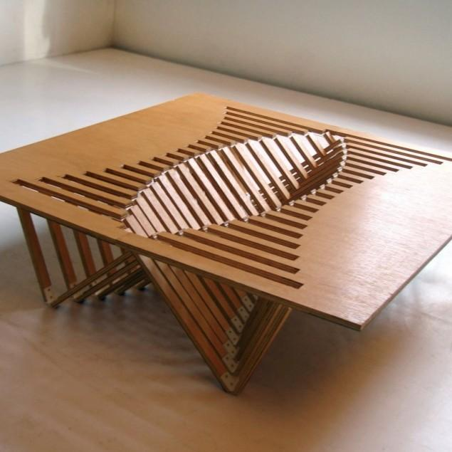 Intriguing Creative Design – A Flexible Wooden Table