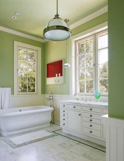 Green Bathroom Painted Walls - Green as a Decorative Accent in Home Interior Design