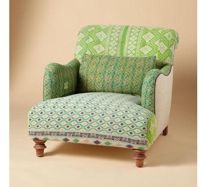 Green Decorative Armchair - How a Colorful Chair can Decorate your Living Room