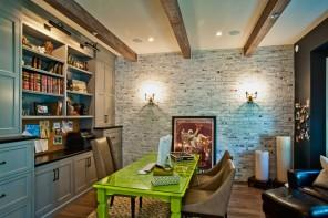 Dining Table - Green as a Decorative Accent in Home Interior Design