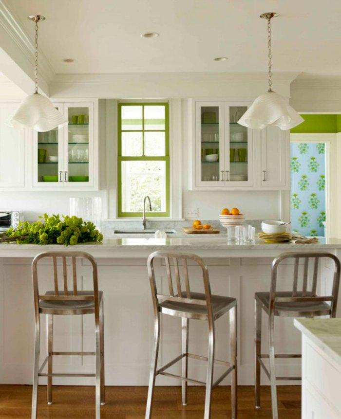 Kitchen - Green as a Decorative Accent in Home Interior Design