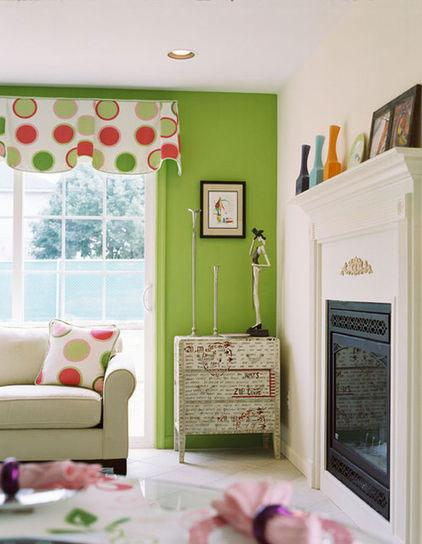 Living Room Wall - Green as a Decorative Accent in Home Interior Design