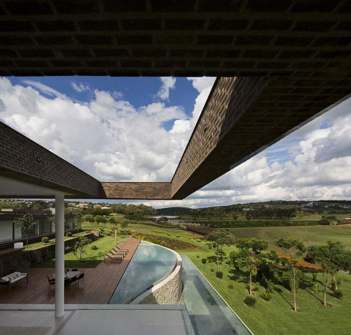 Huge House Architecture - Luxury Countryside Contemporary House near Sao Paulo