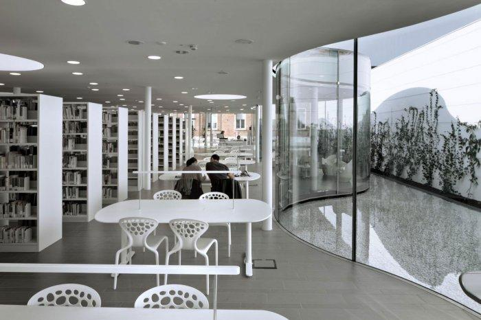 Interior Design - Maranello Library Architecture and Design in Italy
