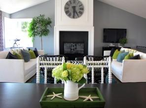 Living Room - Best USA Decor Examples of Home Wall Painting Ideas