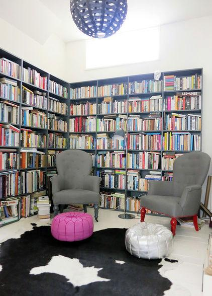 London Home Library - Neat Victorian Home with Contemporary Interior