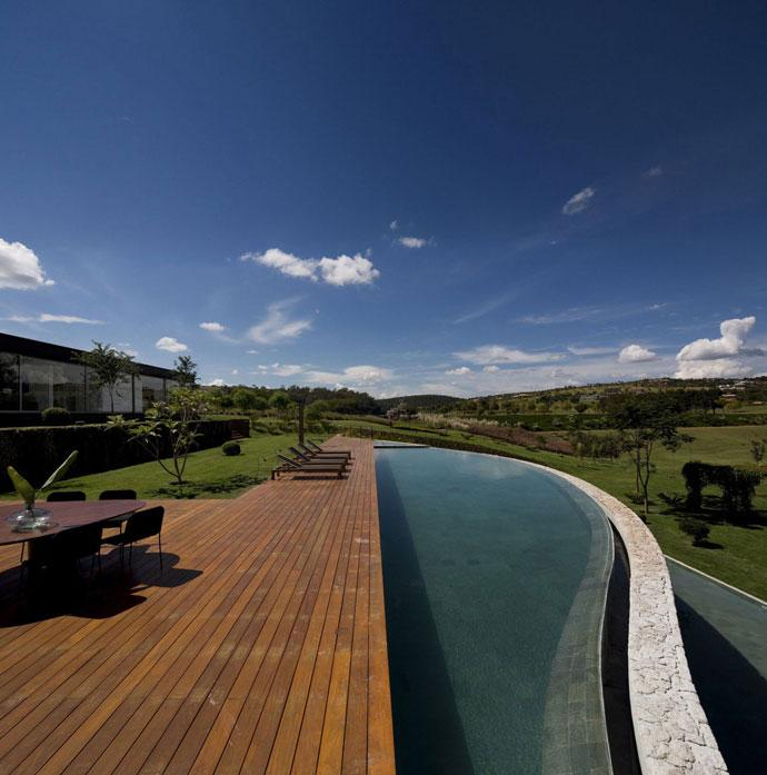 Open Pool - Luxury Countryside Contemporary House near Sao Paulo