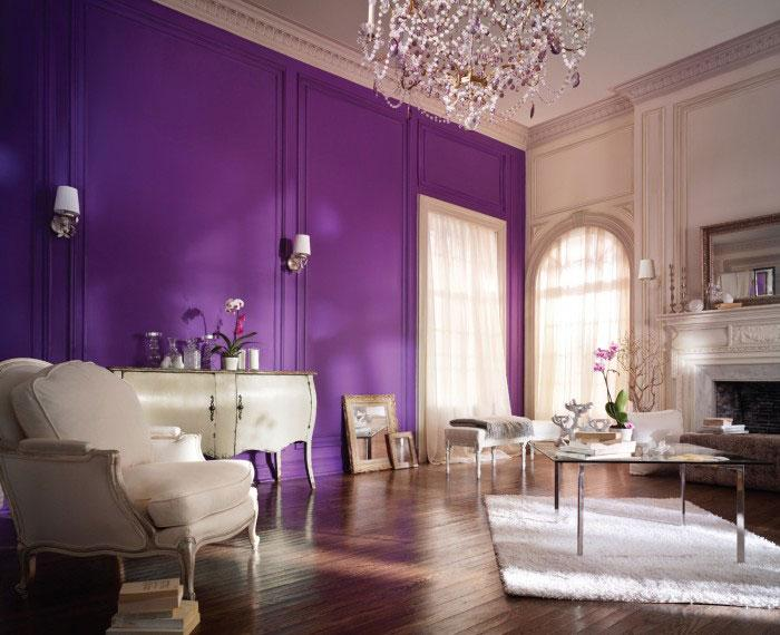 Luxury Purple Interior - 8 Top Home Decoration Color Trends for Stylish Interior