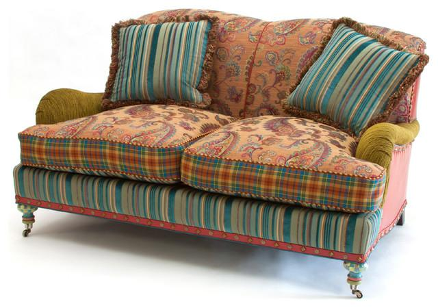 Mid Century Modern Sofa Design Hand-Decorated Eclectic Furniture