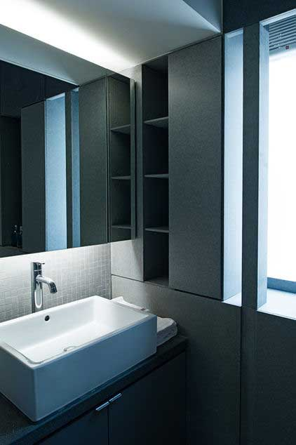 Small Bathroom Sink >> Small Studio Apartment Interior Design in Hong Kong | | Founterior