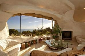 Fantastic Ocean View House Made of Stone in California