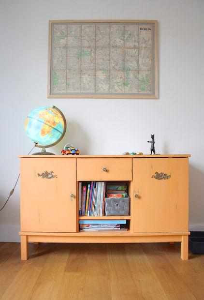 Old Looking Drawer - Eclectic Interior Design of a Modern Home in Brussels