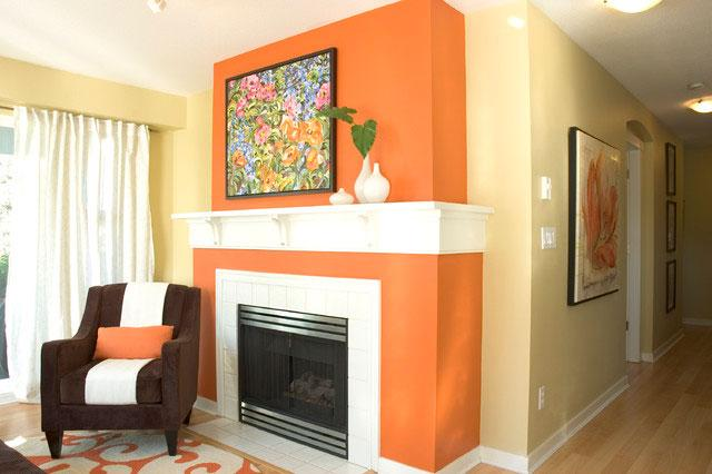 Orange Fireplace - 8 Top Home Decoration Color Trends for Stylish Interior