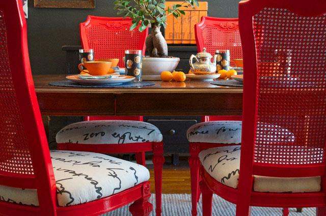 Red Dining Table Chairs - Using the Right Chair Design when Decorating Rooms