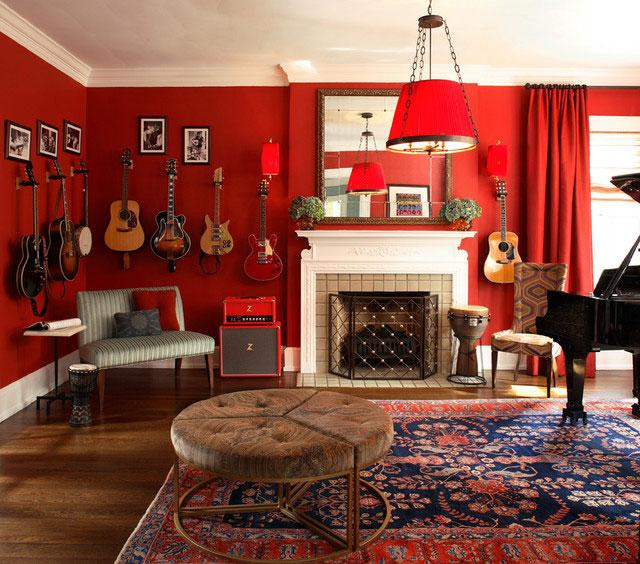 Red Living Room - 8 Top Home Decoration Color Trends for Stylish Interior