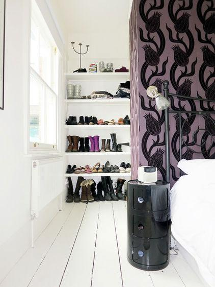 Shoe Drawer - Neat Victorian London Home with Contemporary Interior