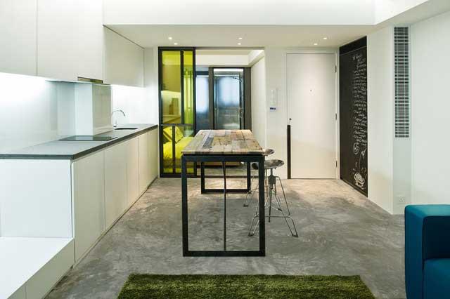 Small Studio Apartment Interior Design In Hong Kong