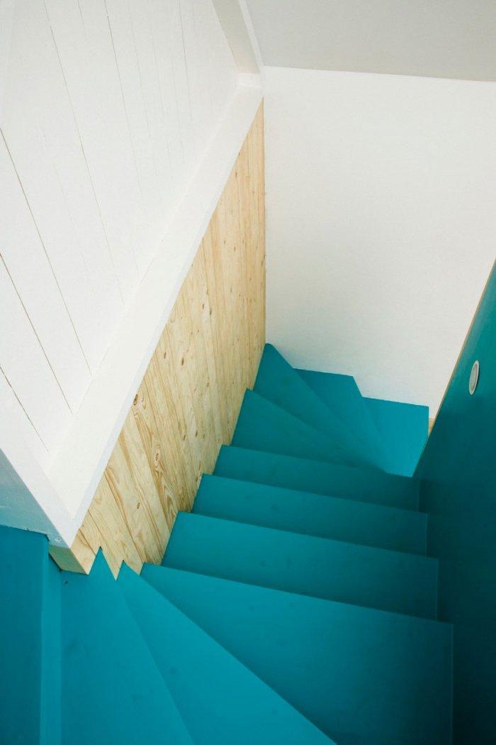 Staircase - Small Scandinavian Eco House Nested in Österlen