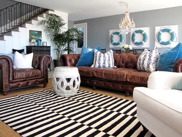 Striped Carpet - Gorgeous Coastal House on the French Riviera
