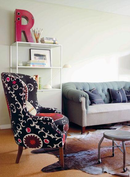 Stylish Living Room Interior - How a Colorful Chair can Decorate your Living Room