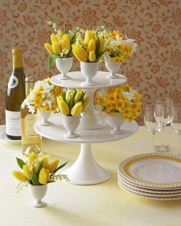 Tiered Bouquets - Easter Decorating Ideas in Pictures & How-To Examples