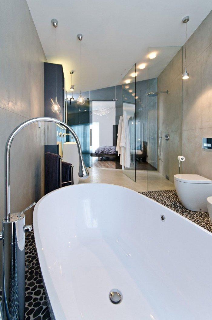 Ultra Modern Bathroom Sink - Concrete as a Global Apartment Interior Design Trend