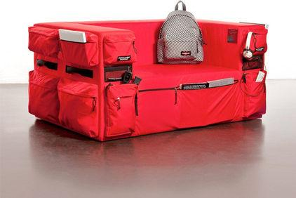 Unique Red Functional Pocketed Sofa - 7 Creative Contemporary Furniture Examples