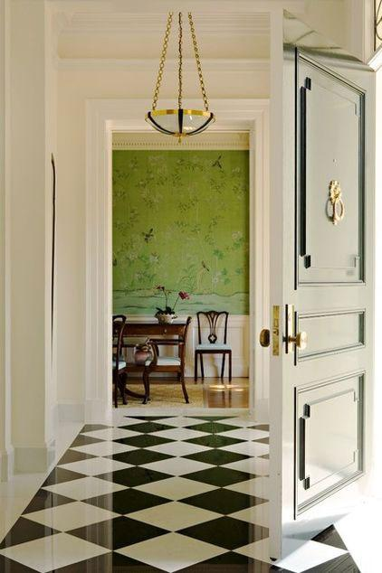 White Hallway with Tiled Floor - 8 Top Home Decoration Color Trends for Stylish Interior