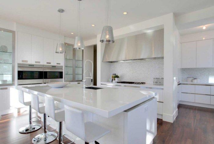10 examples of white kitchen interior design ideas for White kitchen designs 2013