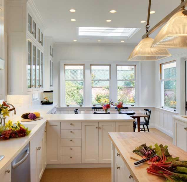 10 Examples of White Kitchen Interior Design Ideas