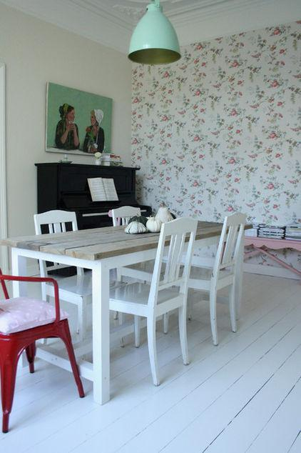 White Wooden Dining Table - Neat and Cozy 19th Century Belgian Home Interior