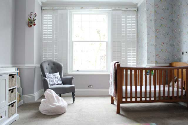 Wooden Baby Crib - Victorian Style House with Contemporary Interior