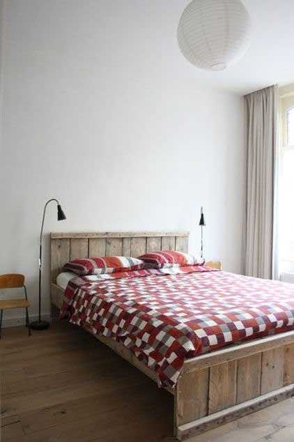 Wooden Bed - Loft Apartment Interior Design - Contemporary Lifestyle
