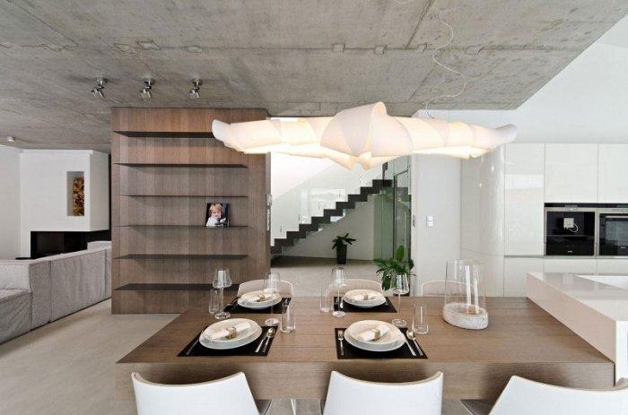 Wooden Dining Table Design - Concrete as a Global Apartment Interior Design Trend
