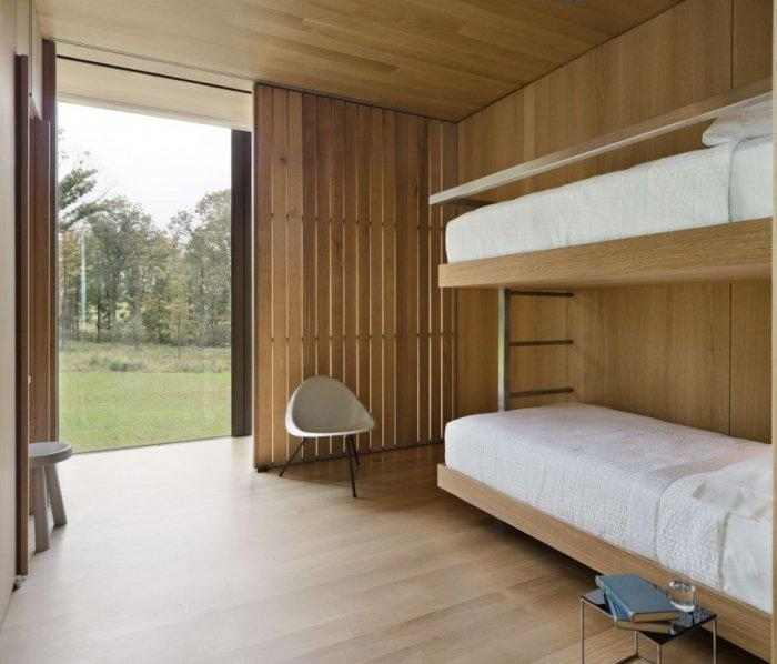 Bedroom Wooden Walls - Amazing Sustainable House Architecture and Design