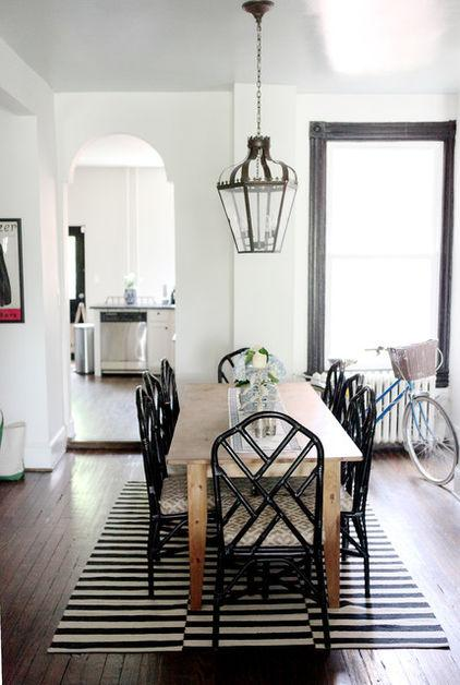 Black dining room cane chairs as a Part of the Home Interior Design