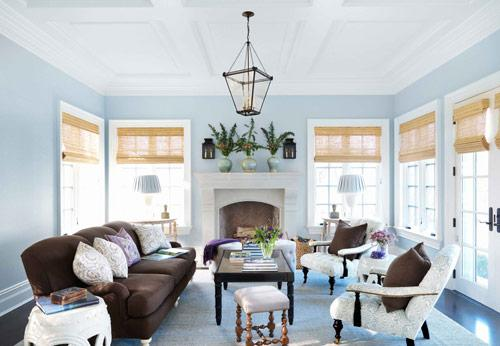 Blue living room interior design - Home Decorating Tips and Interior Color Schemes