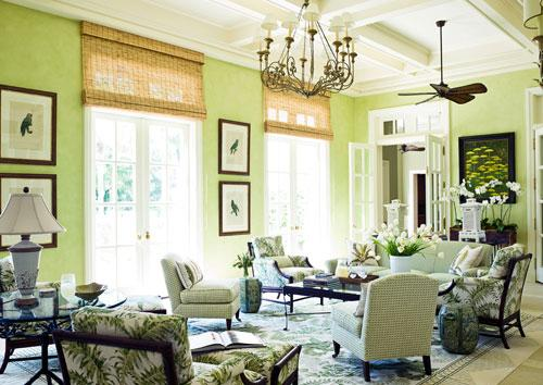 Bright green living room interior design - Home Decorating Tips and Interior Color Schemes