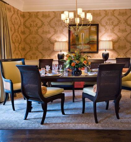 Classic style dining table with cane chairs as a Part of the Home Interior Design
