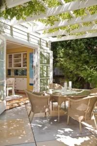 Garden Guide to Coffee Table and Chairs under a Patio Pergola
