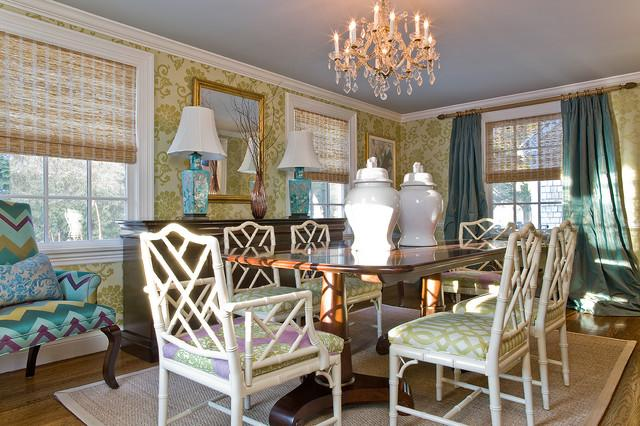Colorful dining room cane chairs as a Part of the Home Interior Design