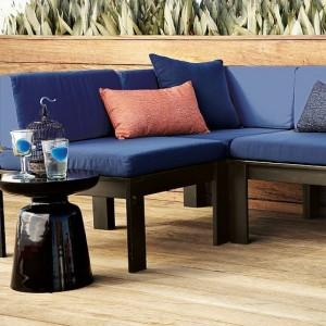 Comfortable Blue Water Proof Garden Sofa - Patio And Outdoor Furniture Ideas and Examples