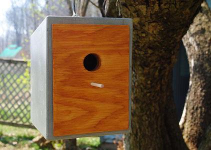 Fantastic Concrete Patio Birdhouse Examples